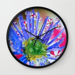 peppermint  petal puddles Wall Clock
