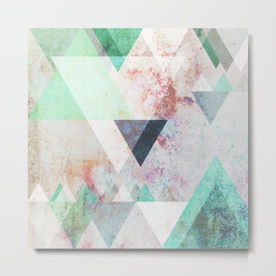 Graphic 3 turquoise Metal Print