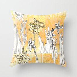 Spring is Sprung Throw Pillow