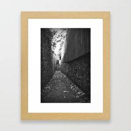 Narrow Way Framed Art Print