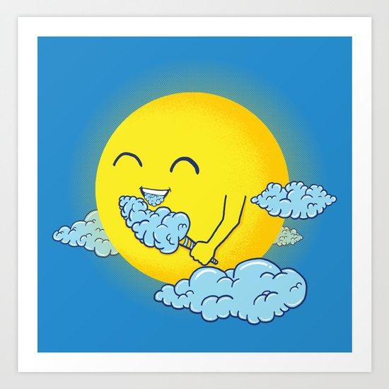 Cloud Candy Art Print