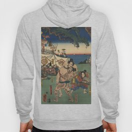 A game of Sumo Wrestling. Hoody