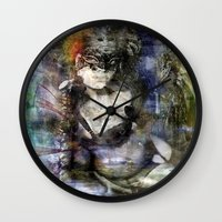 goth Wall Clocks featuring whitby goth by yairi