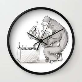 King Kong Chess Wall Clock