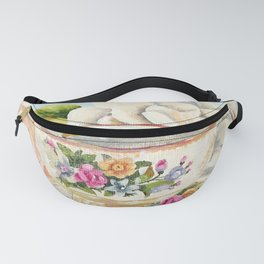 Teacup, Lemon and Roses Fanny Pack