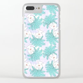 Fern-tastic Girls in Teal + Periwinkle Clear iPhone Case
