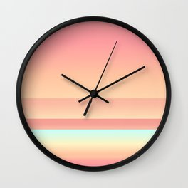 Big Sur Sunset Beach Color Wall Clock