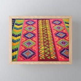Colorful Guatemalan Alfombra Framed Mini Art Print