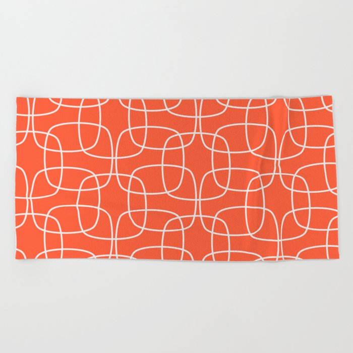 Square Pattern Flame Beach Towel