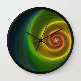 Space dream spiral Wall Clock