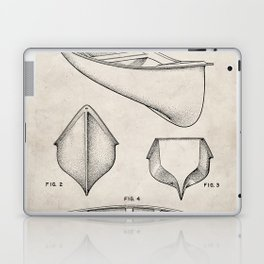 Canoe Patent - Kayak Art - Antique Laptop & iPad Skin