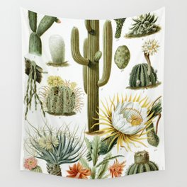 Cactaceae German Botanical Print from Brockhaus Encyclopedia Wall Tapestry
