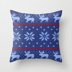 Winter Lovers Christmas Throw Pillow