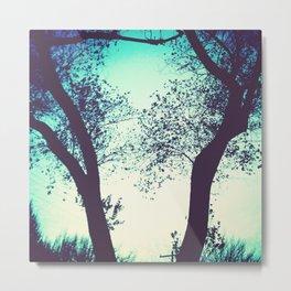 Blue Trees Metal Print