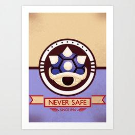 Never Safe - Mario Kart Art Print