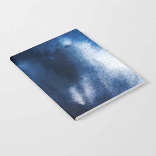 Watercolor Blue Notebook