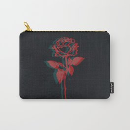 Glitchy Rose Carry-All Pouch