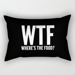WTF Where's The Food (Black & White) Rectangular Pillow