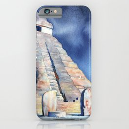 Mayan temple and stelae at UNESCO World Heritage ruins of Tikal- Guatemala. iPhone Case