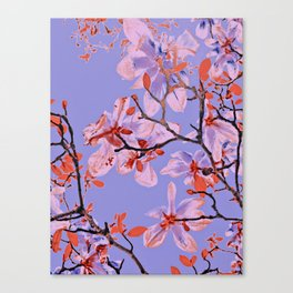 Copper Flowers on violett ground Canvas Print