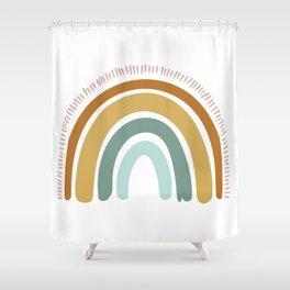Boho Rainbow Shower Curtain