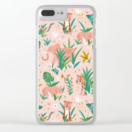 Endangered Wilderness - Blush Pink Clear iPhone Case