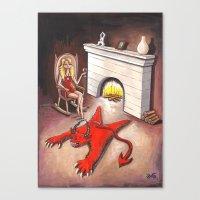 devil Canvas Prints featuring Devil by menekse cam