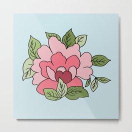 Antique Flower Metal Print