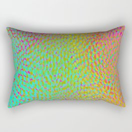 shifting dots in bright color Rectangular Pillow