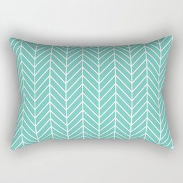 Green lines pattern Rectangular Pillow