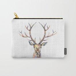 Deer's watercolor portrait. Carry-All Pouch
