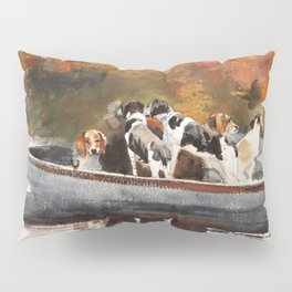 Hunting Dogs In Boat - Digital Remastered Edition Pillow Sham