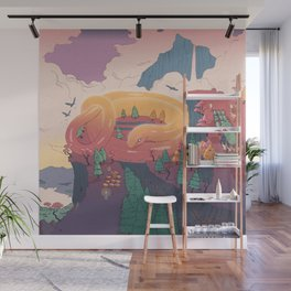The creature of the mountain Wall Mural