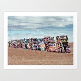 Retro Road Trip Texas Art Print