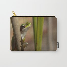 Slender tree frog in the reeds Carry-All Pouch
