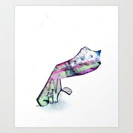 Coping Cat Art Print