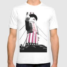 The Great Leader MEDIUM White Mens Fitted Tee