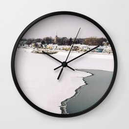 Frozen Ottawa River Wall Clock