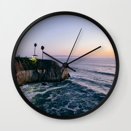 Cliff at Sunset Wall Clock