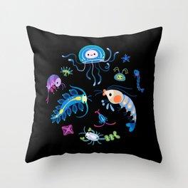 Zooplankton Throw Pillow