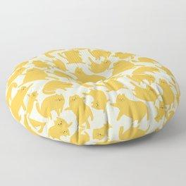 Yellow Cats Pattern Floor Pillow