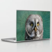 justin timberlake Laptop & iPad Skins featuring GREY OWL by Catspaws