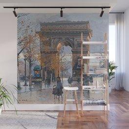 Arc de Triomphe, Paris, France by Eugene Galien Laloue Wall Mural