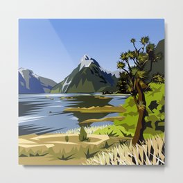 Mitre Peak, MIlford Sound, New Zealand Metal Print