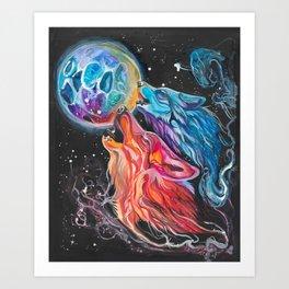 Space Howl Art Print