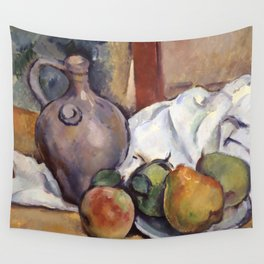 """Paul Cezanne """"Pitcher and Plate of Pears"""" Wall Tapestry"""