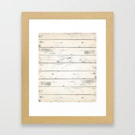 Light Natural Wood Texture Framed Art Print