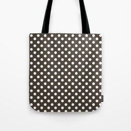 Taupe and White Polka Dot Pattern Tote Bag