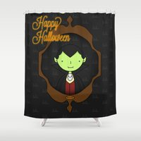 dracula Shower Curtains featuring Dracula by Lalu