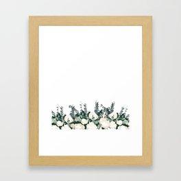 Bed of Flowers on White Framed Art Print